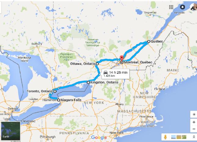 Canada Cartina Fisica.Www Ladigetto It Viaggio On The Road Nell Est Canada Prima Parte